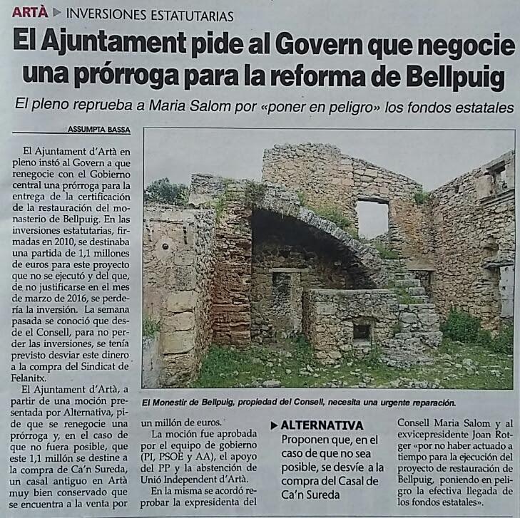 021215_ÚH_Ajuntament_demana_Govern_negocii_prorroga_Bellpuig
