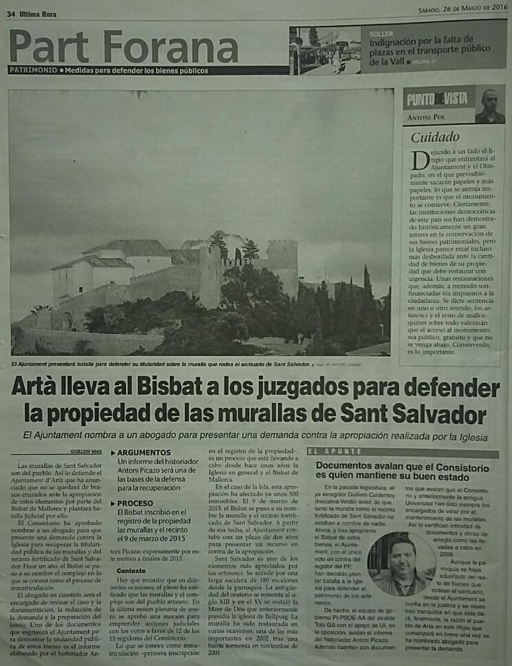 UH260316_Noticia_encarrec_advocat_defensaTitularitatSantSalvador